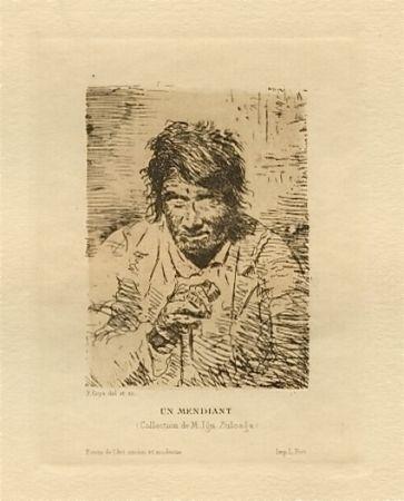 Etching Goya - Le mendiant (The Beggar)