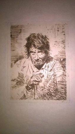 Etching Lucas - Le mendiant (The Beggar)