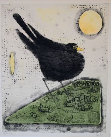 Etching And Aquatint Bo - Le Merle
