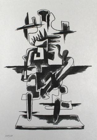 Lithograph Zadkine - Le merveilleux radeau