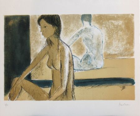 Lithograph Bardone - Le miroir