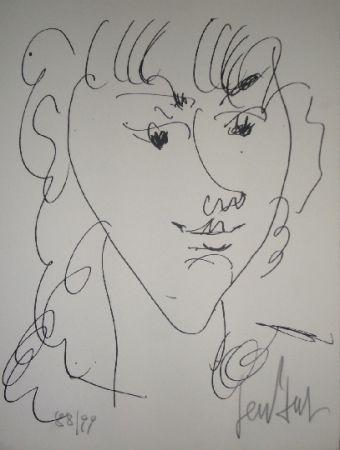 Lithograph Paul  - Le modèle, portrait de Lola