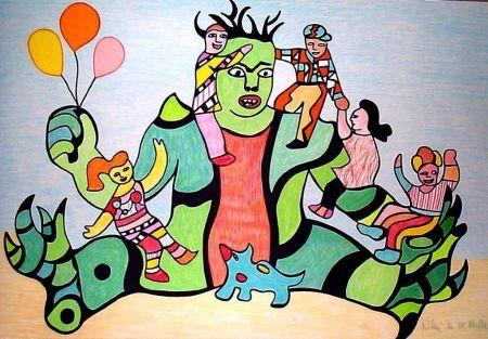 Lithograph De Saint Phalle - Le monstre