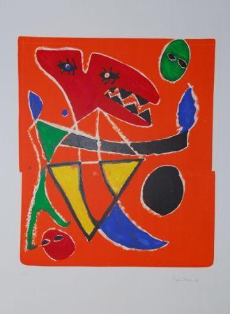Lithograph Ionesco - Le mordant