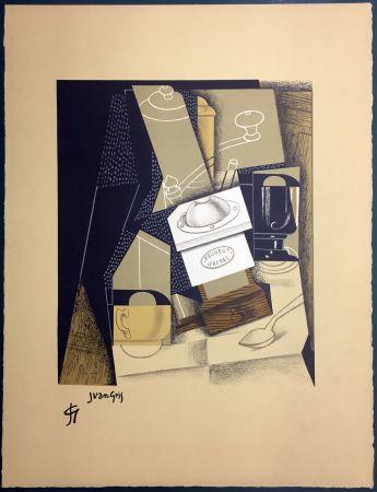 Lithograph Gris  - Le moulin à café. Lithographie (1955).