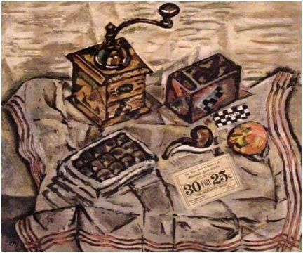 Aquatint Miró (After) - Le Moulin a Café (1954)