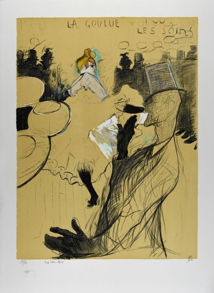 Lithograph Toulouse-Lautrec - LE MOULIN ROUGE : La Goulue & Valentin le désossé, 1891