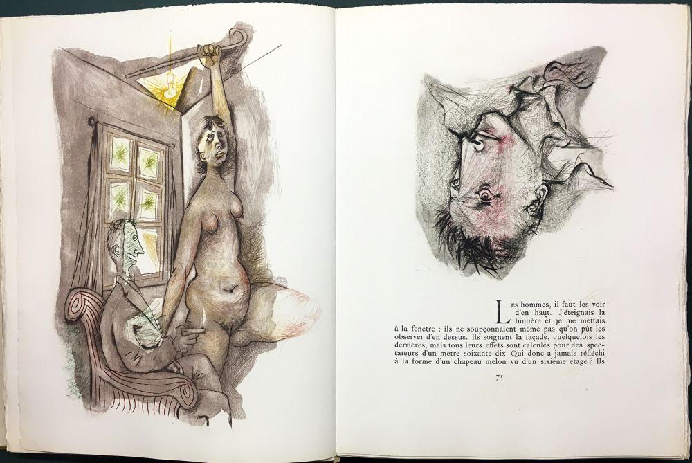 Illustrated Book Prassinos - LE MUR (Jean-Paul Sartre). 1945-1946.