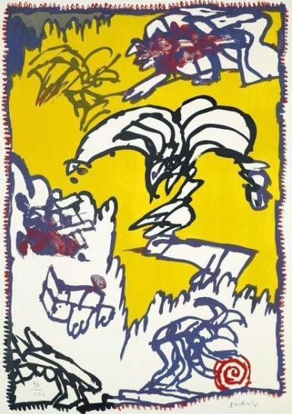 Lithograph Alechinsky - Le mythe de Cobra