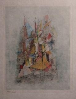 Etching Wols - Le navire dans la ville