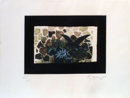 Etching And Aquatint Braque - Le Nid Vert