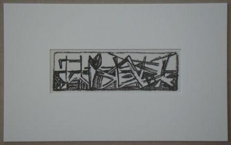 Lithograph Van Velde - Le Noir est une couleur