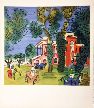 Lithograph Dufy - LE PADDOCK À DEAUVILLE (1930)