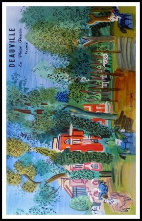 Lithograph Dufy - LE PADDOCK A DEAUVILLE