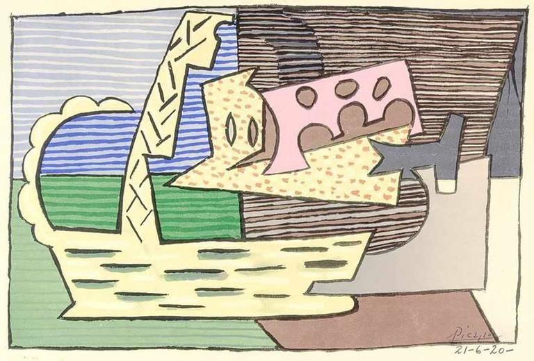 Lithograph Picasso (After) - Le Panier