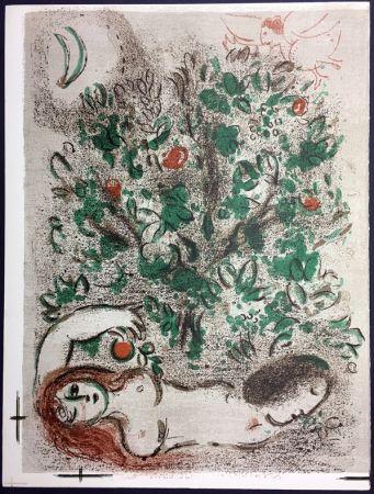 Lithograph Chagall - LE PARADIS (II), La Bible, 1960.