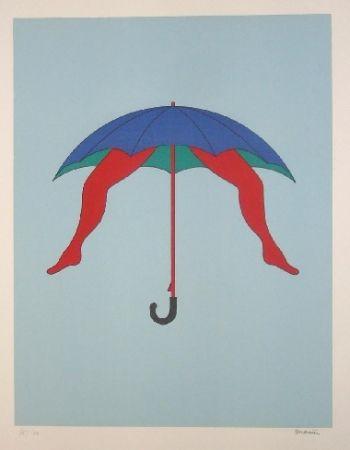 Lithograph Marien - Le parapluie