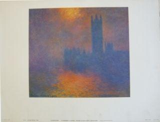 Poster Monet - Le parlement à Londres