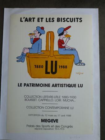 Poster Savignac - Le patrimoine artistique LU ,l'art et les biscuits