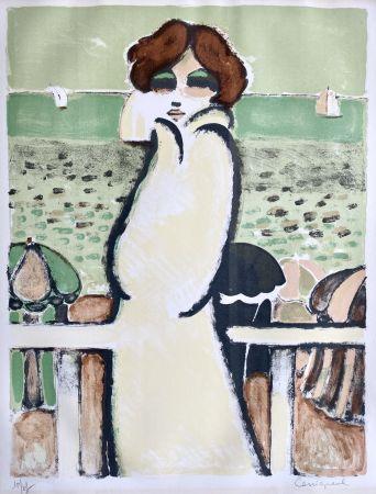 Lithograph Cassigneul  - Le Peignoir de Bain