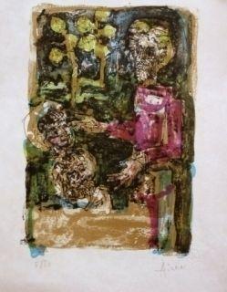 Lithograph Aizpiri - LE PERE