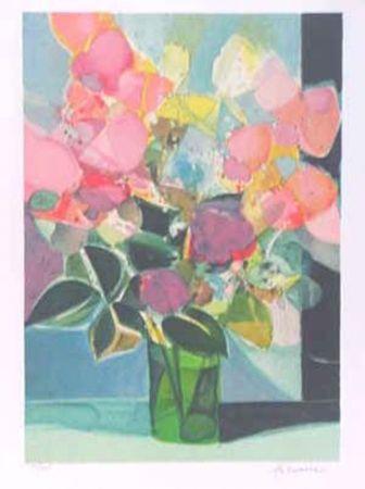 Lithograph Hilaire - Le petit bouquet