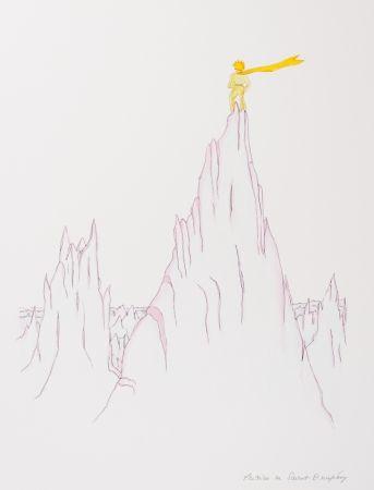Lithograph Saint-Exupéry - Le Petit Prince sur les cimes