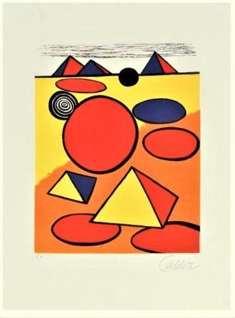 Lithograph Calder - Le Petite Pyramids