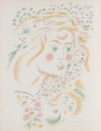 Lithograph Masson - Le Philosophe au Papillon from Je Reve Portfolio