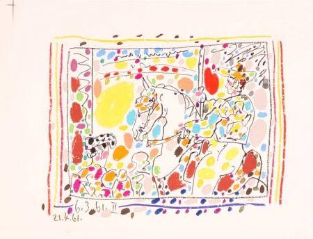 Lithograph Picasso -  Le Picador II / A los Toros