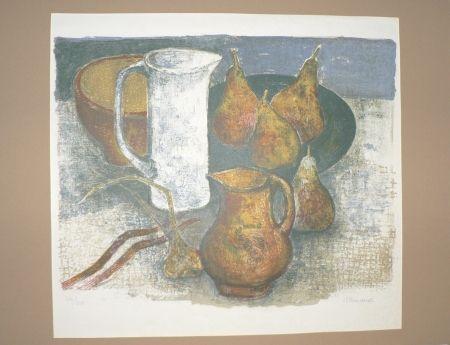 Lithograph Minaux - Le pichet