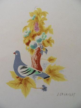 Lithograph Cavailles - Le Pigeon
