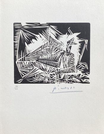 Linocut Picasso - Le Pigeonneau