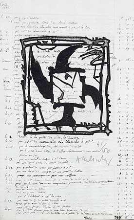 Etching Alechinsky - Le Pinceau Même