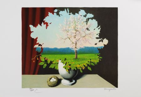 Lithograph Magritte - Le Plagiat (Plagiary)