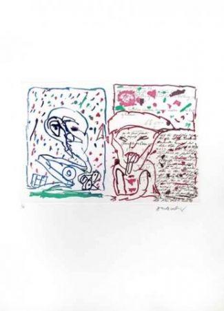 Engraving Alechinsky - Le plus beau Cadeau
