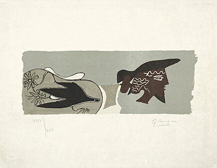 Lithograph Braque - Le Poète