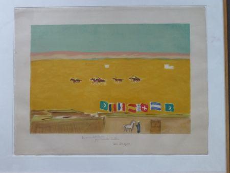Lithograph Van Dongen - Le Polo À Alexandrie