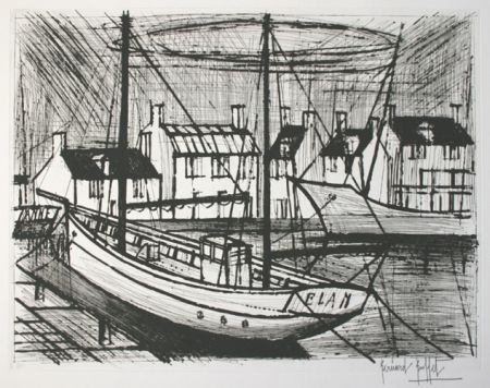 Etching And Aquatint Buffet - Le port 3