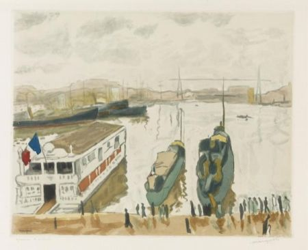 Etching And Aquatint Marquet - Le Port de Marseille. 1923-1924.