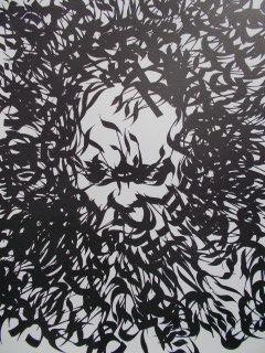 Lithograph Moretti - Le portrait de Moise