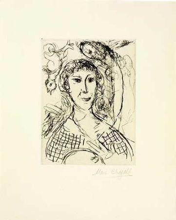 Etching Chagall - Le portrait du peintre