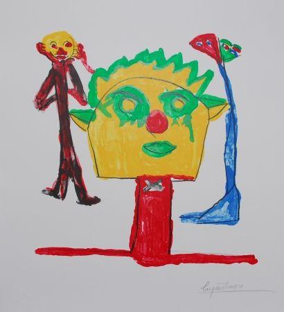 Lithograph Ionesco - Le portrait et ses fils
