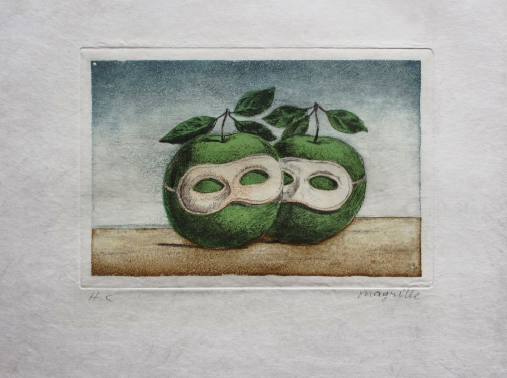 Etching And Aquatint Magritte - Le Prêtre Marie