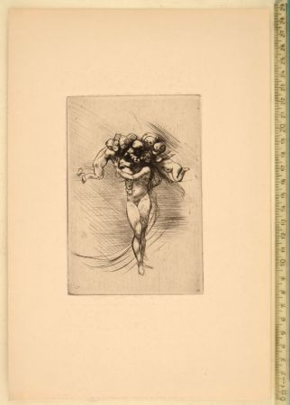 Drypoint Rodin - LE PRINTEMPS (ALLEGORY OF SPRING)