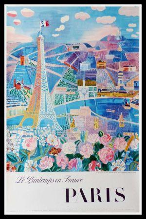 Lithograph Dufy - LE PRINTEMPS EN FRANCE PARIS
