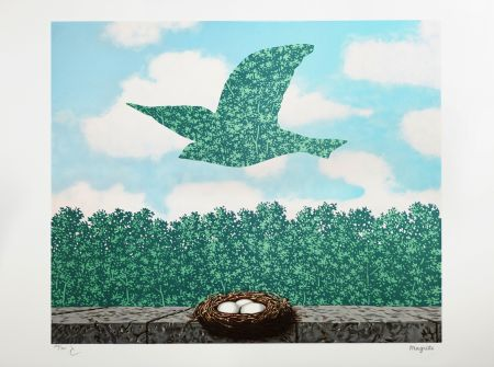 Lithograph Magritte - Le Printemps (Spring)