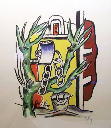 Lithograph Leger - Le puits