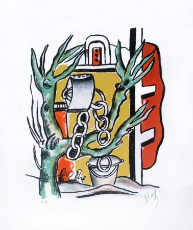 Lithograph Leger - Le Puits (The Well)