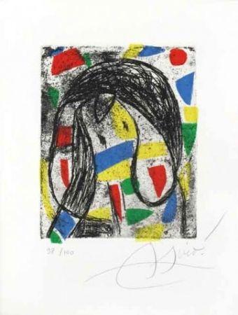 Etching And Aquatint Miró -  Le Rèvolte Des Caractères